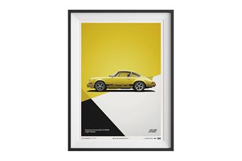 Porsche 911 Carrera 2.7 RS Poster – Yellow