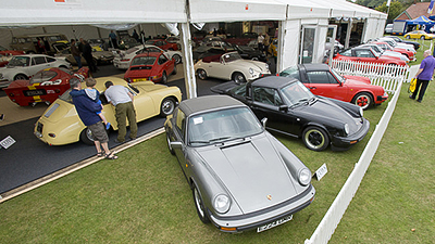 An auction of Porsches at the Royal Agricultural Centre Cirencester
