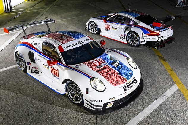 Porsche flies the Brumos Racing colours