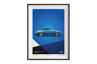 Porsche 911 Carrera 2.7 RS Poster – Blue
