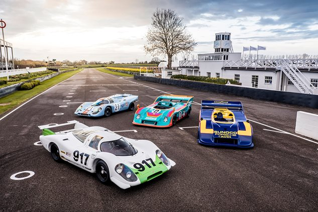 Goodwood circuit echoes to iconic flat-12 race cars