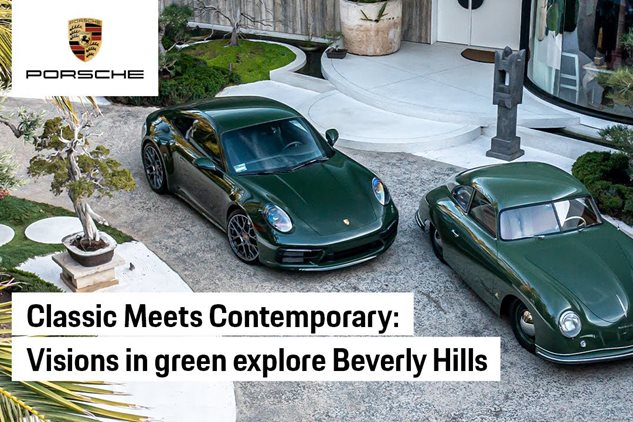 Porsche 356 and 911-Driving in Beverly Hills