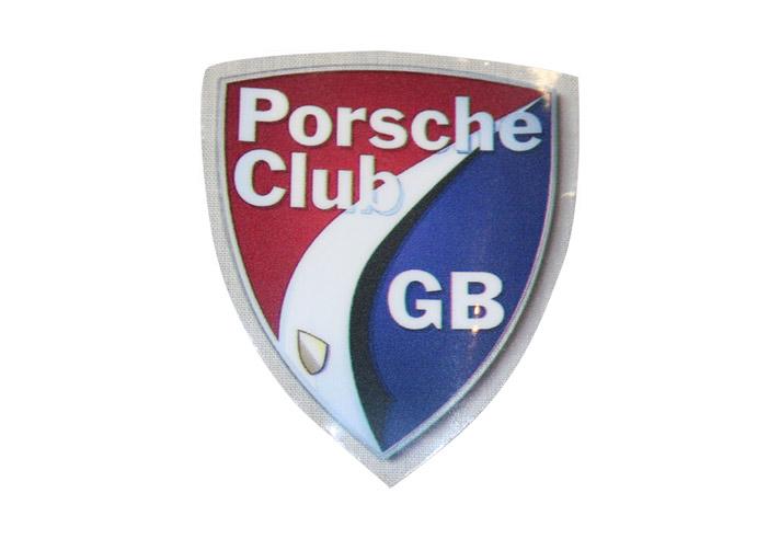 Porsche club windscreen sticker porsche club great britain