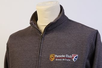 Mens Charcoal Zip Sweatshirt