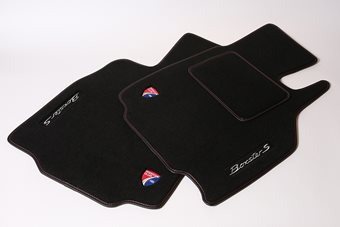 Floor mat front pair with drivers heel pad