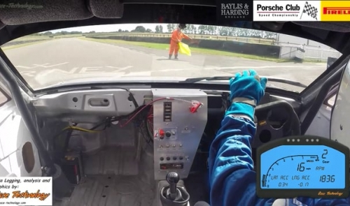 Justin Mather with his Porsche 924S setting a new championship Goodwood Sprint New P3 Record