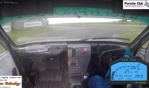 Porsche Club Speed Championship with Pirelli - on-board with Justin Mather at Gurston Down Best Run - June 2015