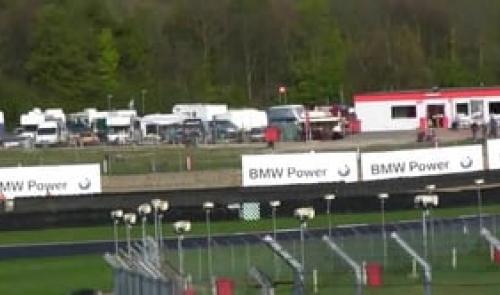 Porsche GT3 Cup Challenge - Oly Mortimer spin at Brands Hatch on Green Flag Lap